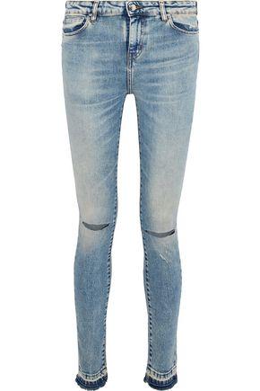 IRO Esra distressed mid-rise skinny jeans