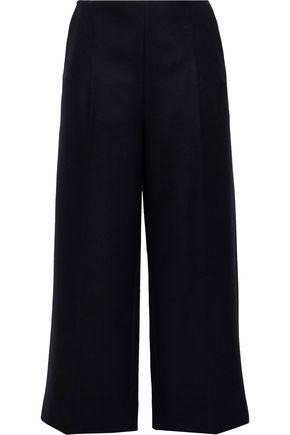 CHALAYAN Cropped wool-blend twill wide-leg pants