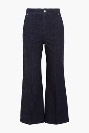 ISABEL MARANT Mid-rise boot-cut pants
