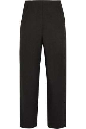 VANESSA SEWARD Cropped wool-blend crepe straight-leg pants
