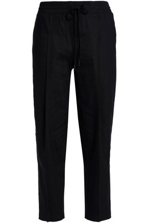 DKNY Linen-blend tapered pants