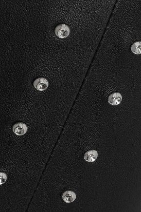 IRO Studded leather skinny pants