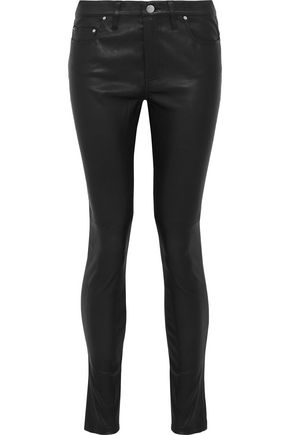IRO Leather skinny pants