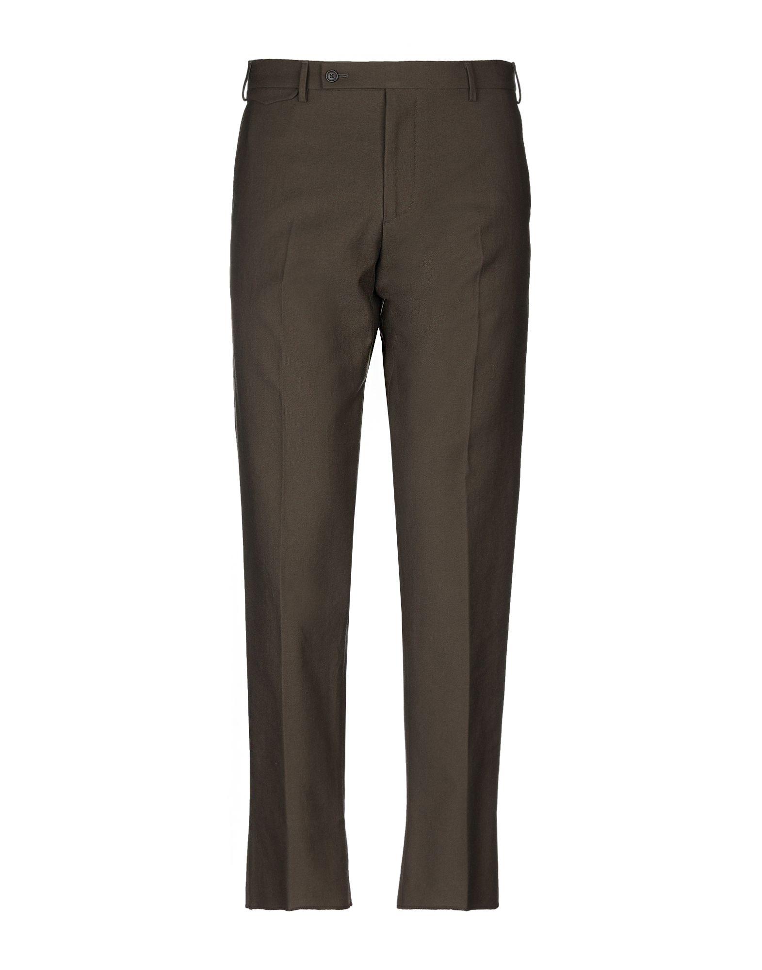 《送料無料》BERWICH メンズ パンツ ミリタリーグリーン 52 コットン 100%