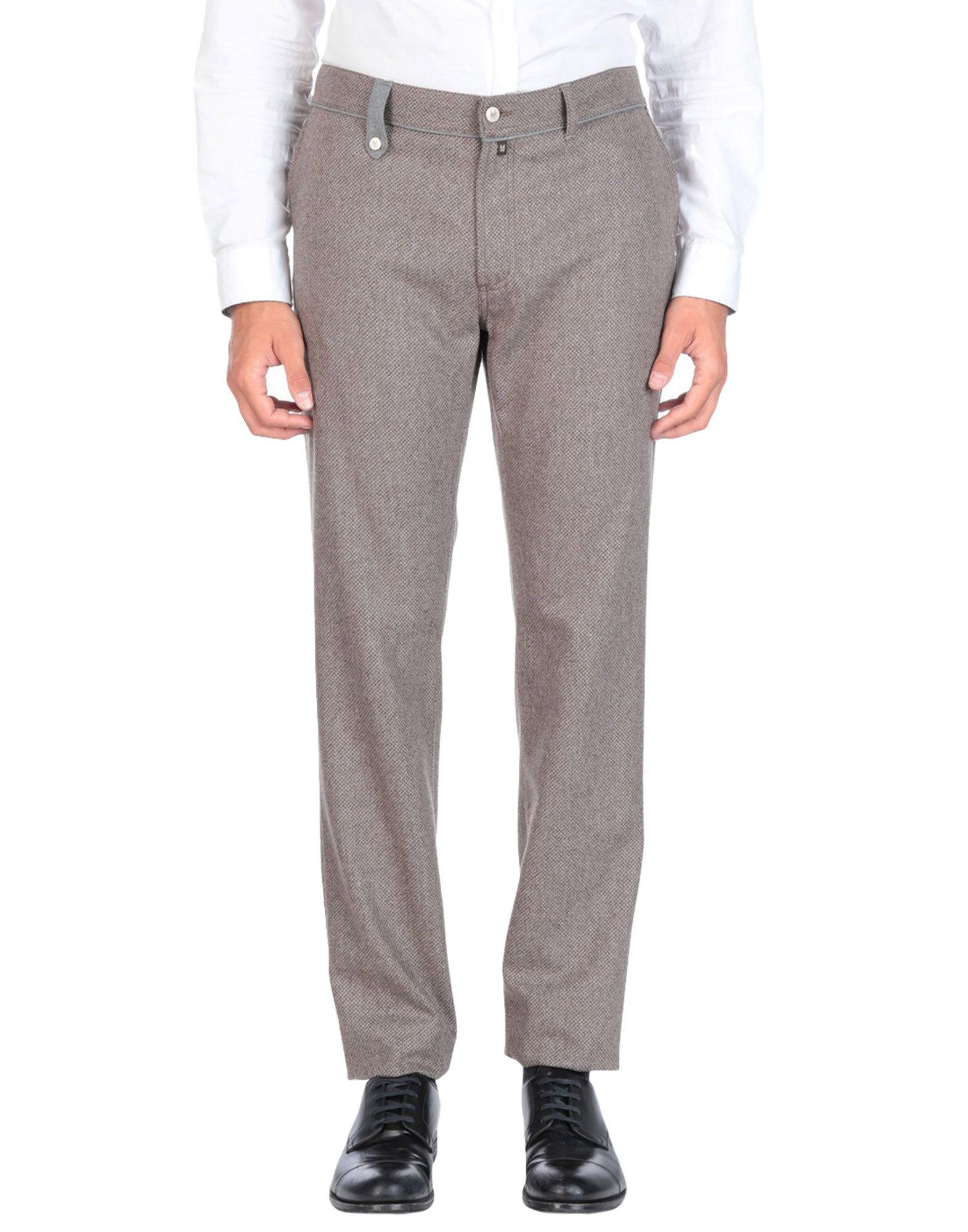 《送料無料》MARCO PESCAROLO メンズ パンツ ドーブグレー 42 バージンウール 100%