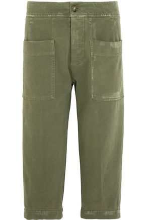 JAMES PERSE Cropped stretch-cotton twill pants