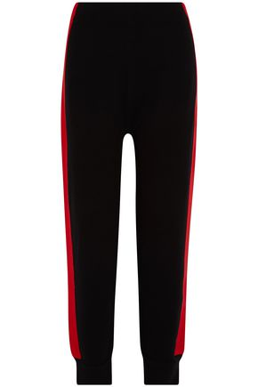 SJYP Color-block knitted tapered pants