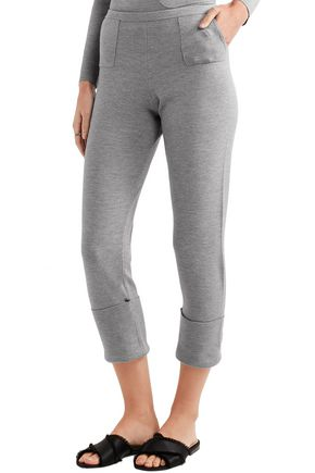ALLUDE Wool slim-leg pants