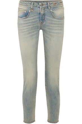 R13 Leyton low-rise slim-leg jeans