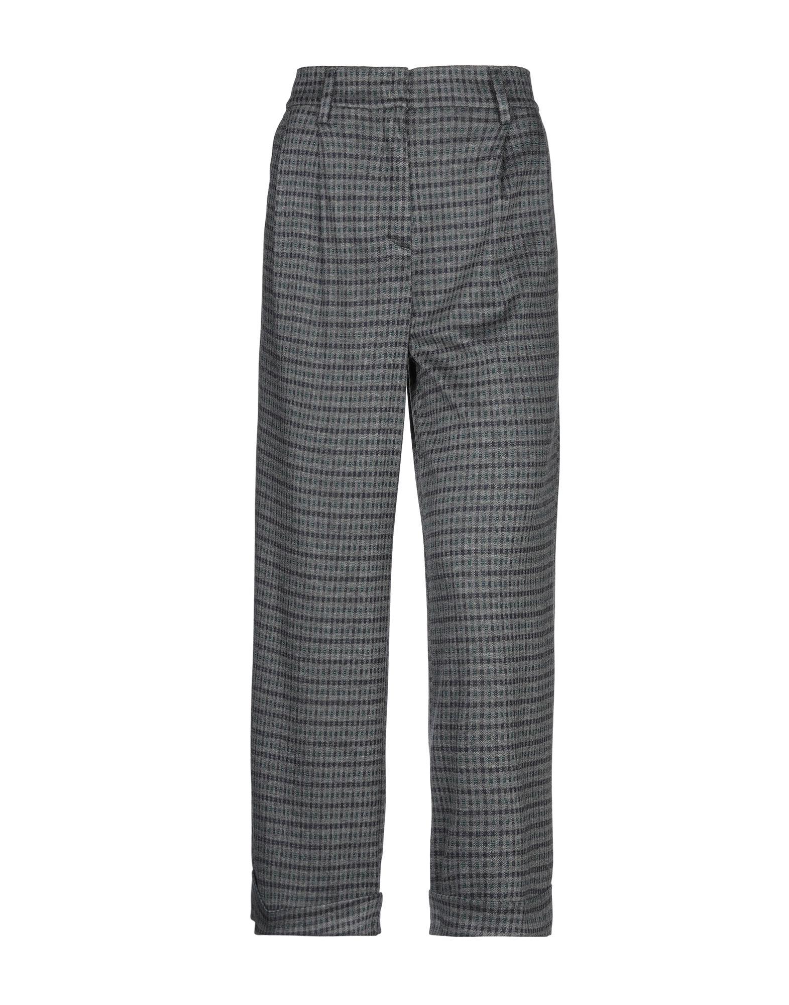 MYTHS Повседневные брюки брюки широкие с принтом в клетку виши