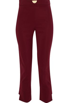CUSHNIE ET OCHS Cropped stretch-cady slim-leg pants