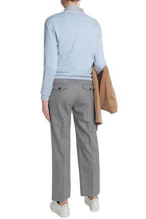 JOSEPH Wool-blend straight-leg pants
