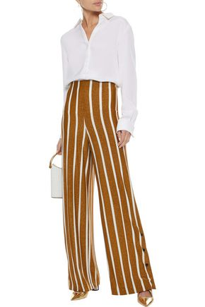BY MALENE BIRGER Striped jersey wide-leg pants