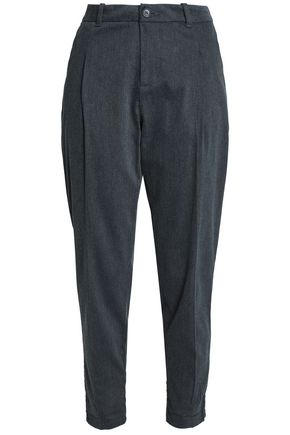 JAMES PERSE Mélange cotton-blend twill tapered pants