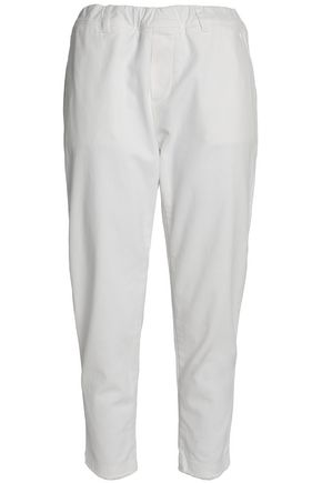 JAMES PERSE Cropped cotton-blend twill tapered pants