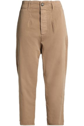 JAMES PERSE Cropped cotton-twill straight-leg pants