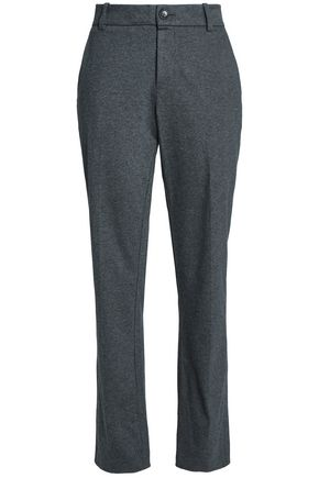 JAMES PERSE Mélange cotton-jersey straight-leg pants