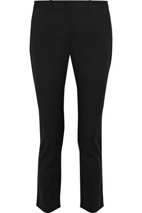 JOSEPH Eliston cropped cotton-blend slim-leg pants