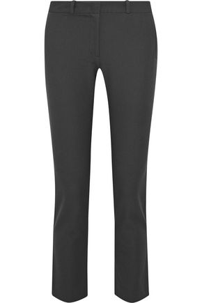 JOSEPH Eliston cropped twill slim-leg pants