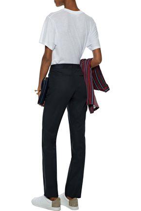JOSEPH Stretch-cotton twill straight-leg pants