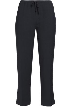 JAMES PERSE Cropped canvas straight-leg pants