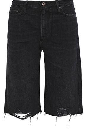 SIMON MILLER Brent distressed denim shorts