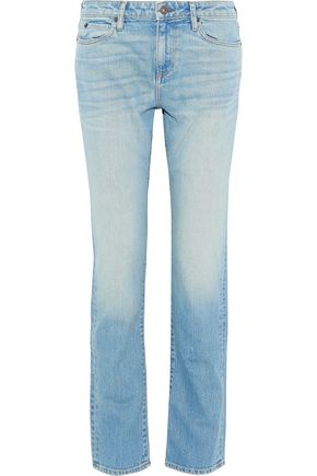 SIMON MILLER Faded high-rise straight-leg jeans