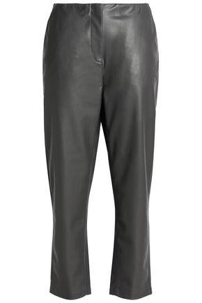 DUFFY Faux leather slim-leg pants