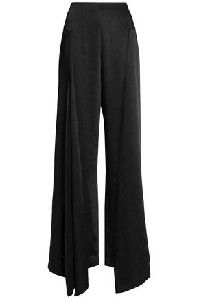 PAPER London Paneled satin wide-leg pants