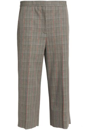 ROCHAS Prince of Wales checked cotton wide-leg pants