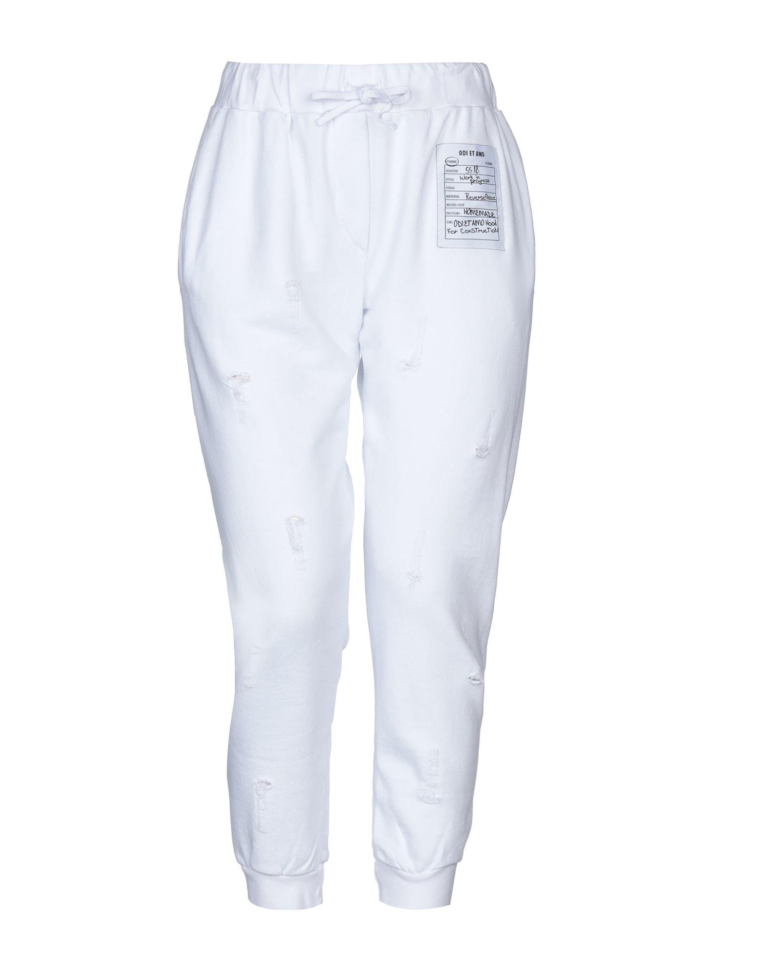 《送料無料》ODI ET AMO レディース パンツ ホワイト XS コットン 100%
