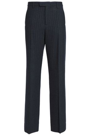 MAISON MARGIELA Striped wool straight-leg pants