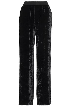 MAISON MARGIELA Crushed-velvet wide-leg pants