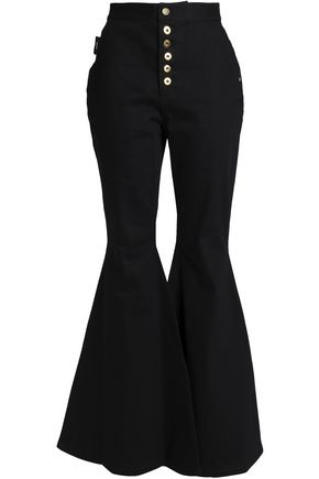 ELLERY Ophelia button-detailed high-rise flared jeans