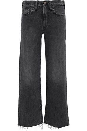 SIMON MILLER Tilson cropped high-rise wide-leg jeans