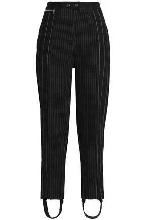 3.1 PHILLIP LIM Striped crepe straight-leg stirrup pants
