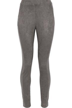 ELIE TAHARI Trina faux-suede leggings