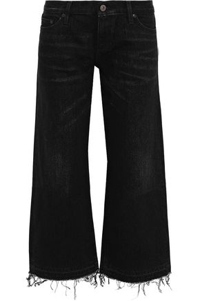 SIMON MILLER Bora cropped low-rise wide-leg jeans