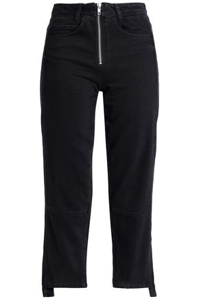 HOUSE OF DAGMAR Cropped high-rise straight-leg jeans