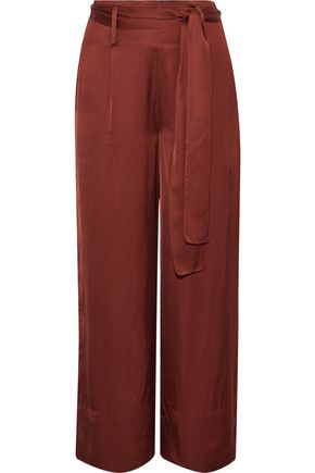 IRIS & INK Zola cropped satin wide-leg pants