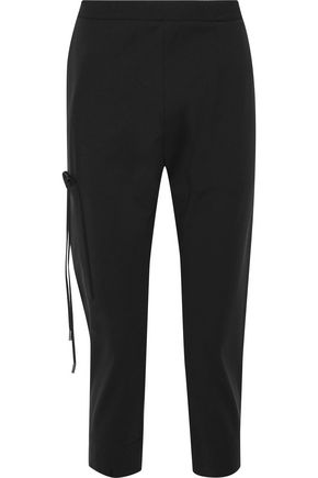 JIL SANDER Cropped crepe straight-leg pants