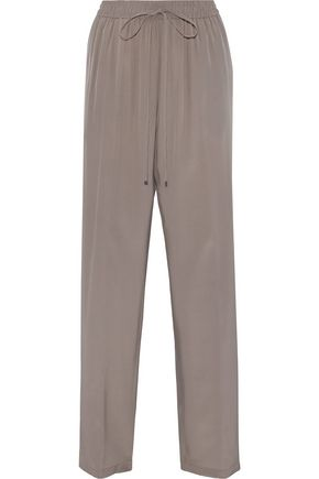 JIL SANDER Cyrius silk crepe de chine wide-leg pants