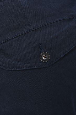 FRAME Crop cotton-blend flared pants