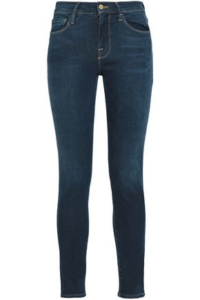 FRAME Mid-rise skinny jeans