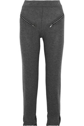 LNA Solina zip-embellished stretch-Tencel jersey track pants