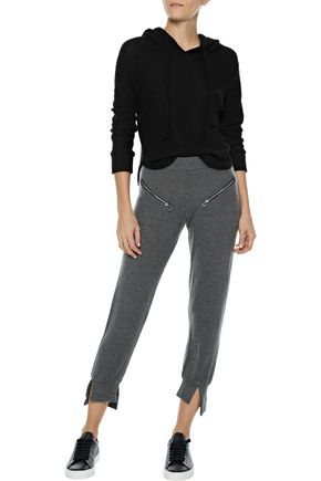 LNA Solina zip-embellished stretch-Tencel jersey track pants