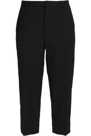 MAISON MARGIELA Cropped stretch-wool twill straight-leg pants