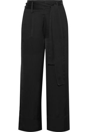IRIS & INK Zola belted satin culottes
