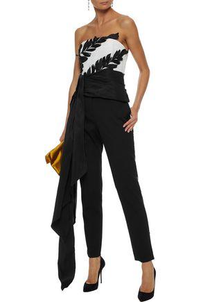 13df1b0e3d8 OSCAR DE LA RENTA Sequin-embellished stretch-wool twill slim-leg pants