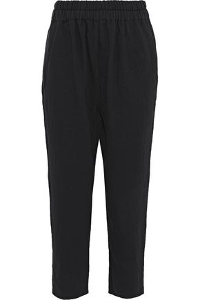 SIMON MILLER Rincon cropped cotton-twill tapered pants